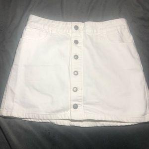 White Hollister A-line Skirt